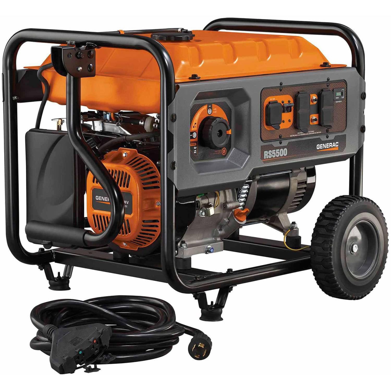 Generac 6672 RS Series 5500 Portable Generator Walmart