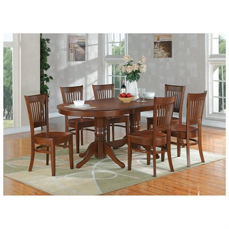 piece dining room set table with a leaf and 6 kitchen dining chairs