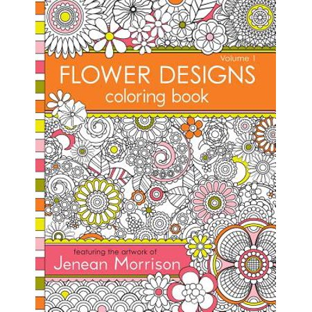 Flower Designs Coloring Book : An Adult Coloring Book for Stress-Relief, Relaxation, Meditation and - Halloween Coloring Games Online
