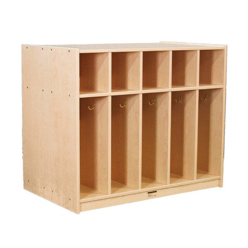 Mahar Creative Colors 1 Tier 5-Section Double-Sided Locker
