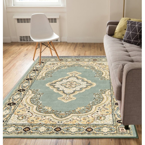 Charlton Home Bungalow Blue/Beige Area Rug