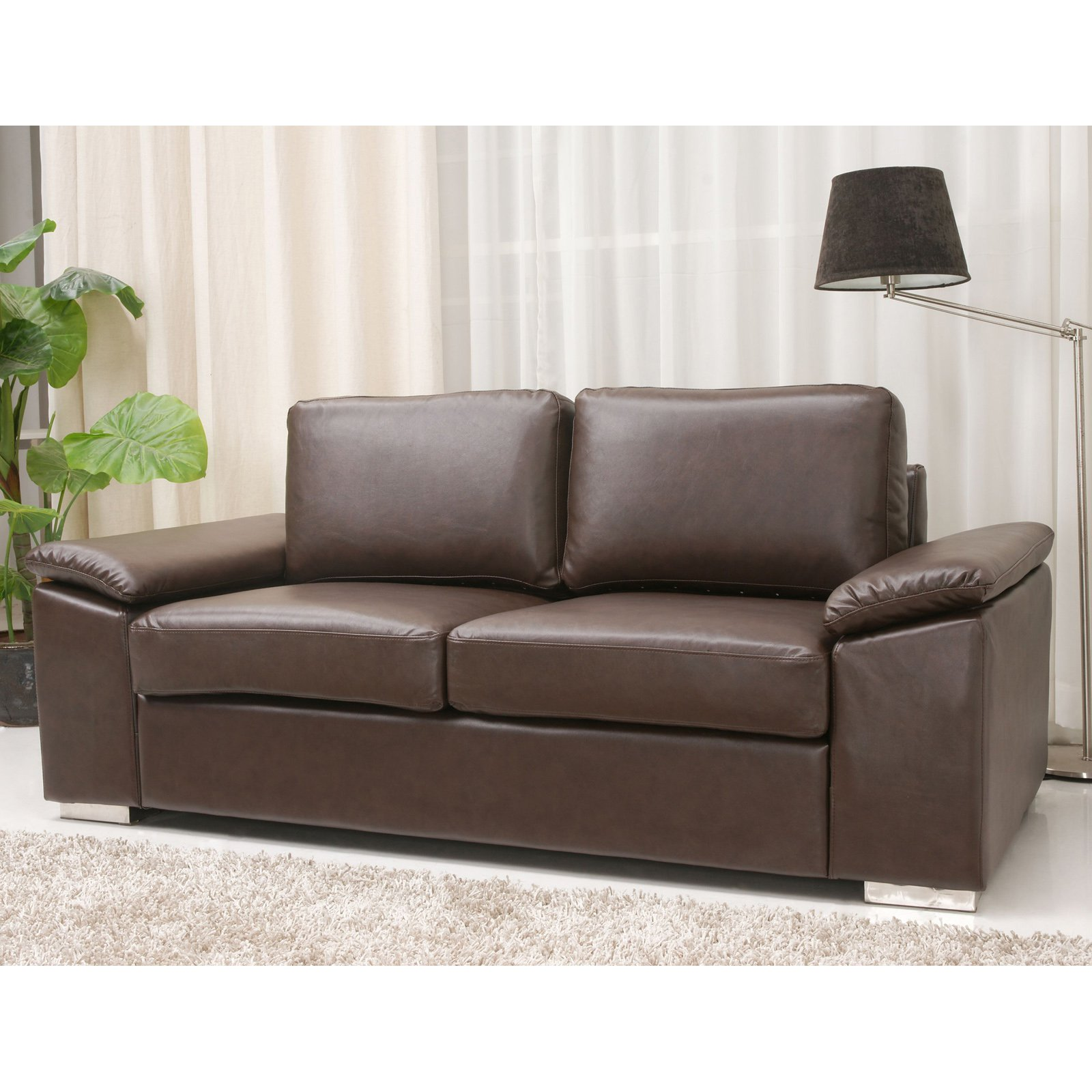 Gold Sparrow Hampton Leather Loveseat