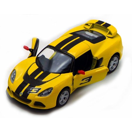 2012 Lotus Exige S Hard Top #3, Yellow with Black Stripes - Kinsmart 5361DF - 1/32 Scale Diecast Model Replica (Brand New, but NOT IN (2012 Stripe)