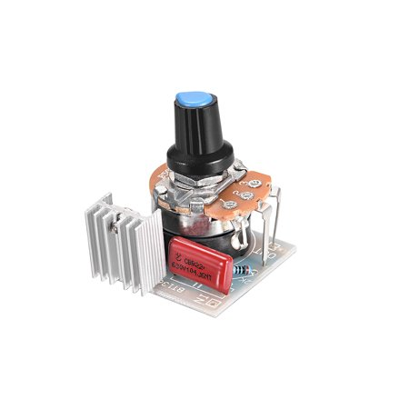 500K ohm Potentiometer 300W-400W AC220V 3A SCR High Power Electronic Regulator Speed Controller Dimming Dimmers, 1pcs