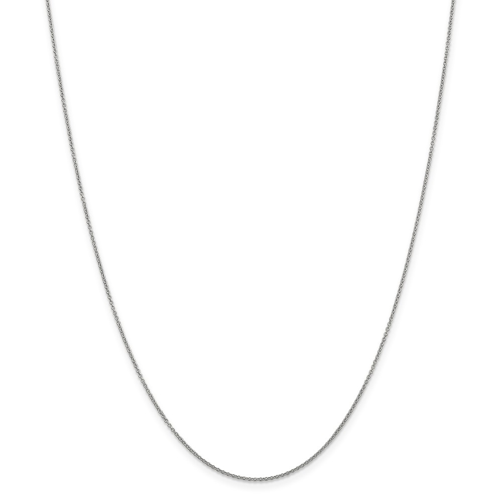ICE CARATS ICE CARATS 14kt White Gold .9mm Link Cable Chain Necklace 24 Inch Pendant Charm Fine Jewelry Ideal Gifts For... by IceCarats Designer Jewelry Gift USA