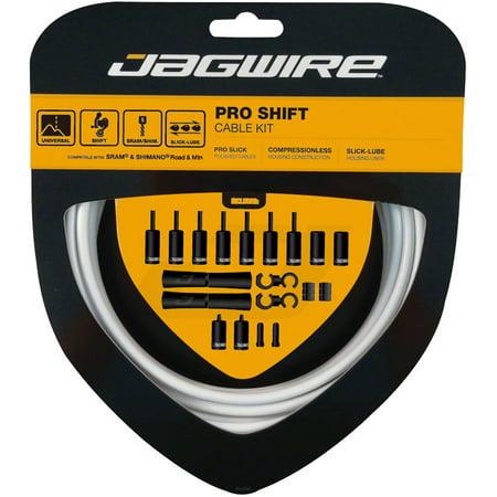 Jagwire Pro Shift Kit Road/Mountain SRAM/Shimano White Pro 5.0 Shifter