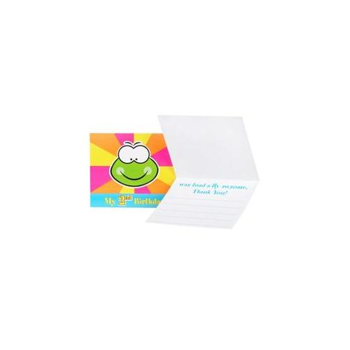Birthday Express Froggie Fun 2nd Birthday Thank You Notes [set of 8]