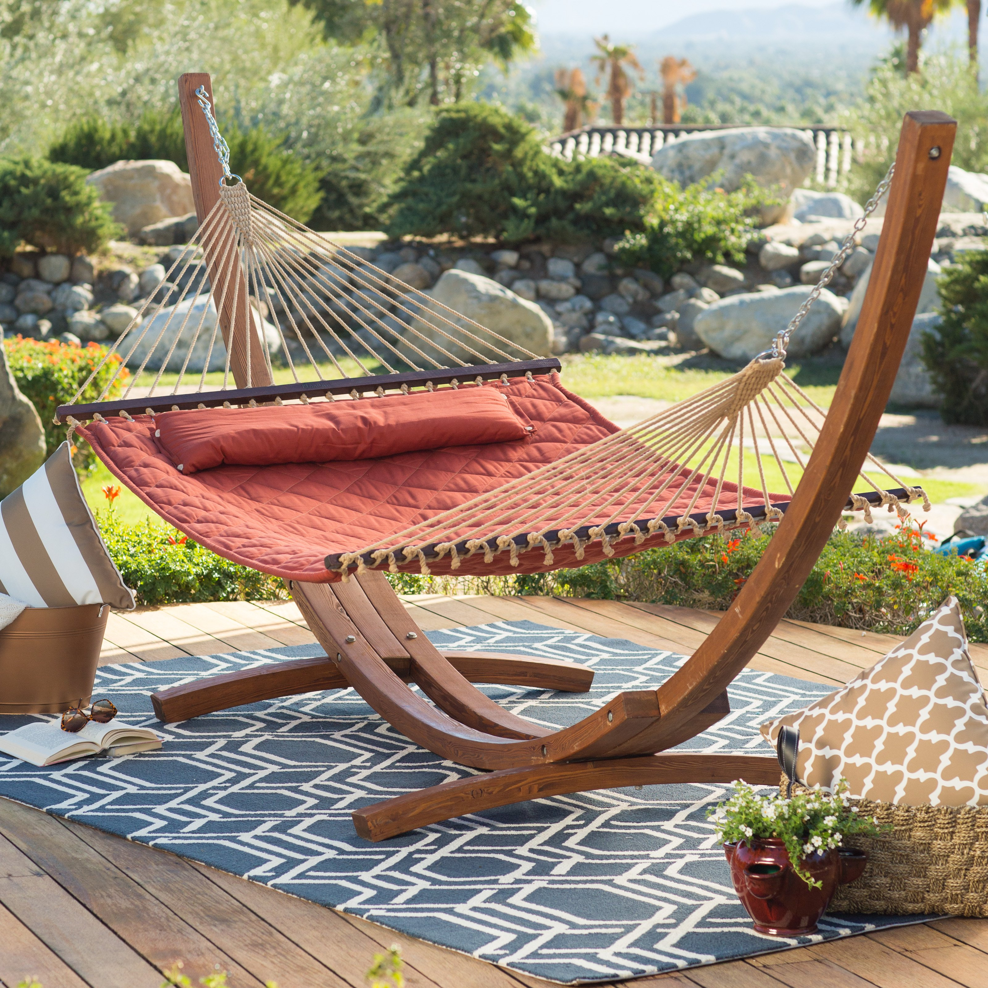 porch on wooden hammock swing inexpensive outdoor for money stand hanging covered patio swings your full chair spend the size well set garden bench of decorating