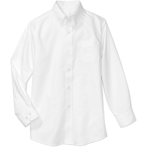 George Boys School Uniforms Long Sleeve Button Up Oxford Shirt ...