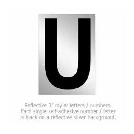 SalsburyIndustries 1215-U 3 in. Reflective Letter - U - image 1 of 1