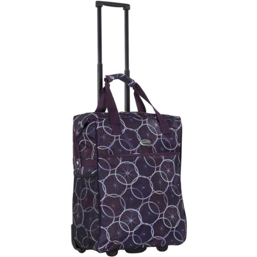 CalPak 'Big Eazy' Purple Wheels 20-inch Washable Rolling Shopping Tote Bag