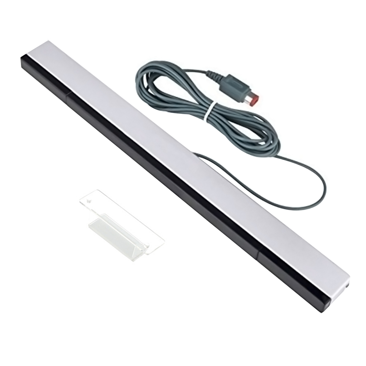 Wired Infrared Sensor Bar for Nintendo Wii and Wii U Console ( Silver / Black )