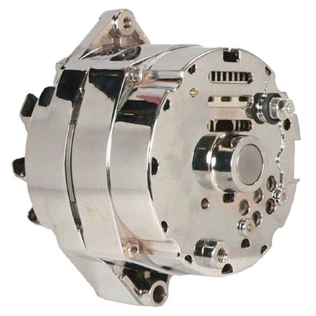 Db Electrical Adr0336-C Alternator Chrome For Chevrolet General Motors 110 Amp 3-Wire Setup 65 67 68 69 70 71 72 73 74 75 76 77 78 79 80 81 82 83 84 85, Bbc Sbc Chevy Alternator 110 Amp 3 Wire Ho