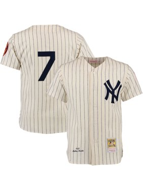 Mickey Mantle New York Yankees Mitchell & Ness Throwback Authentic Jersey - Cream