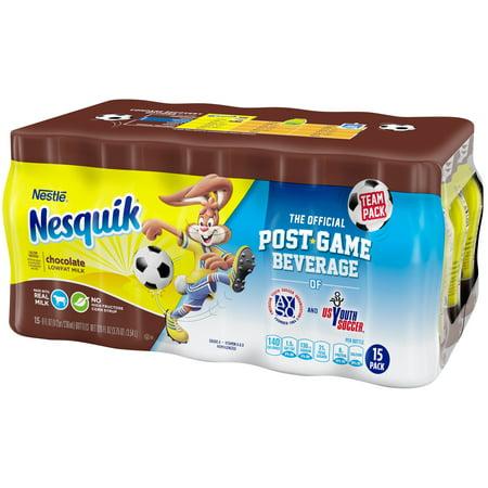 NESQUIK Chocolate Low Fat Milk 15-8 fl. oz. Bottles