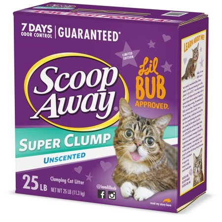 Scoop Away Super Clump Clumping Cat Litter, Unscented, 25 Pounds