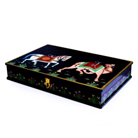Oriental Horse and Camel Wooden Jewelry Box