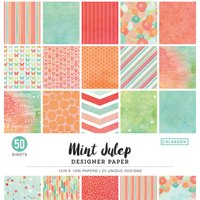 "Colorbok 12"" Mint Julip Designer Paper Pad, 50 Count"