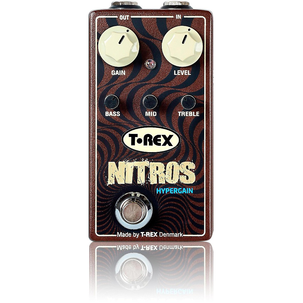 T-Rex Engineering Nitros Hypergain Distortion Guitar Effects Pedal by T-Rex Engineering