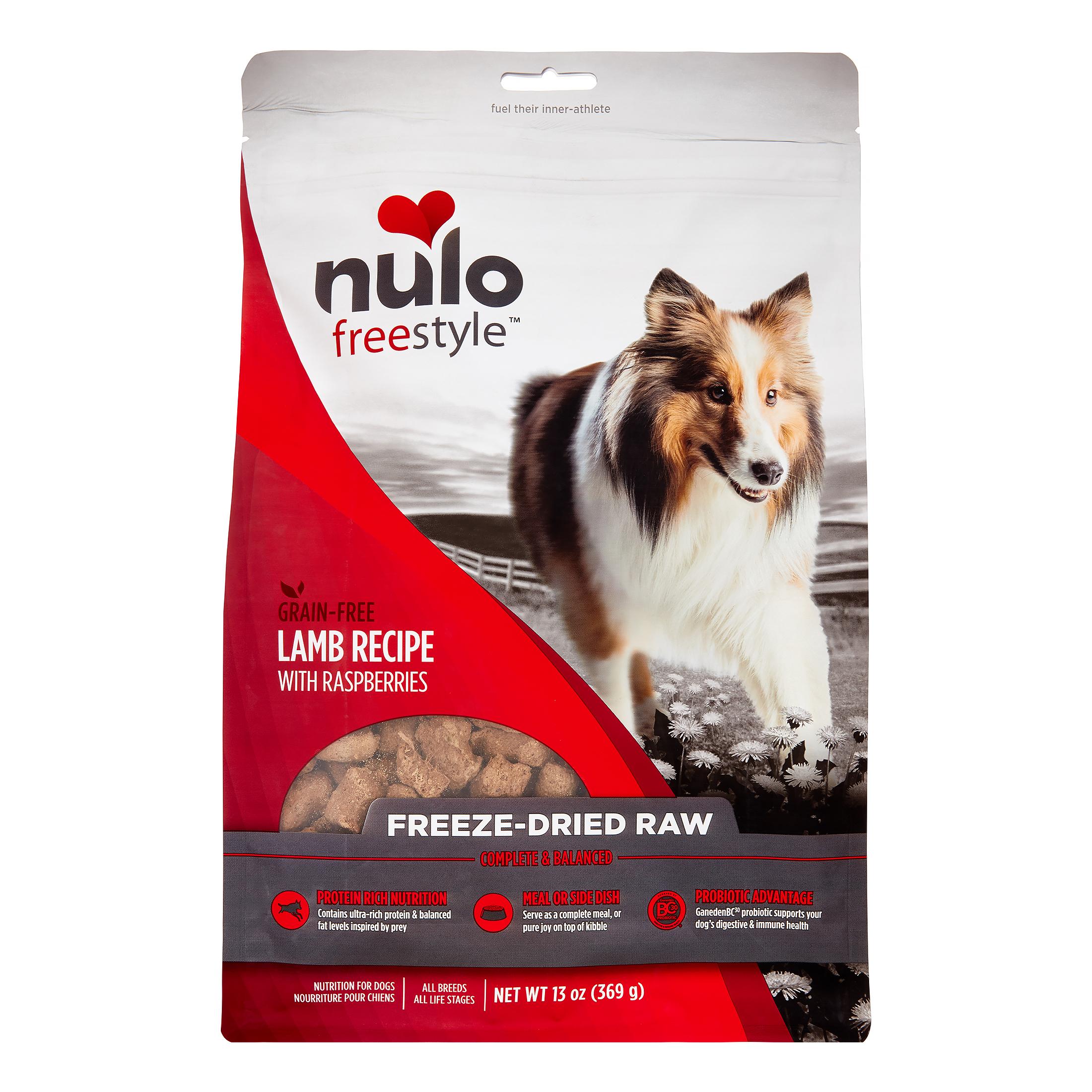 Nulo FreeStyle Grain-Free Lamb Freeze-Dried Dog Food, 13 Oz