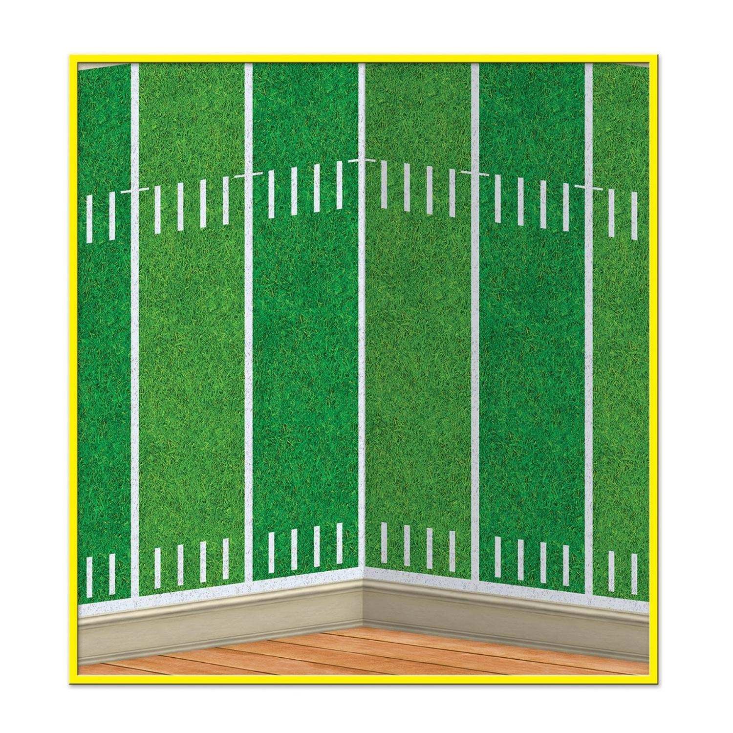 Pack of 6 Green Football Field Photo Backdrop Party Decorations 30'