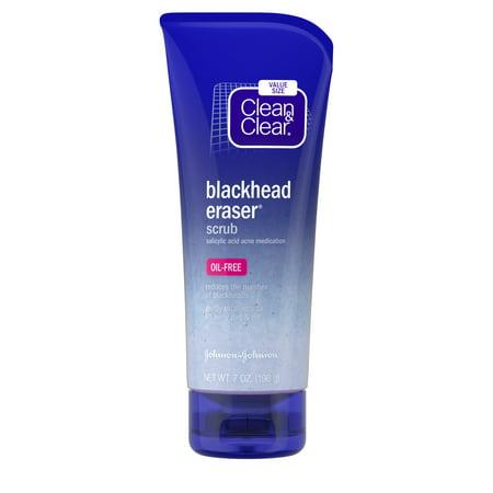 Clean & Clear Blackhead Eraser / Clearing Salicylic Acid Facial Scrub, 7 oz
