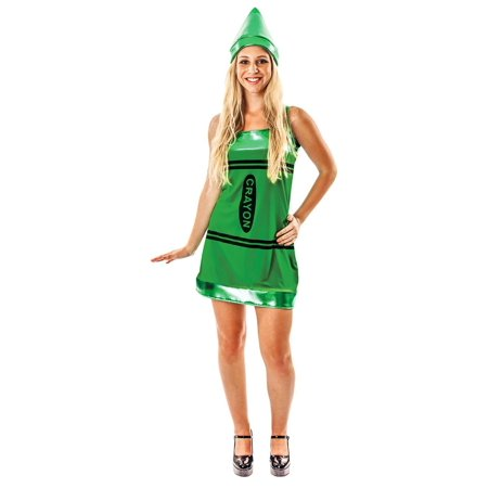 Women's Green Crayon Costume Dress - Penny Crayon Costume