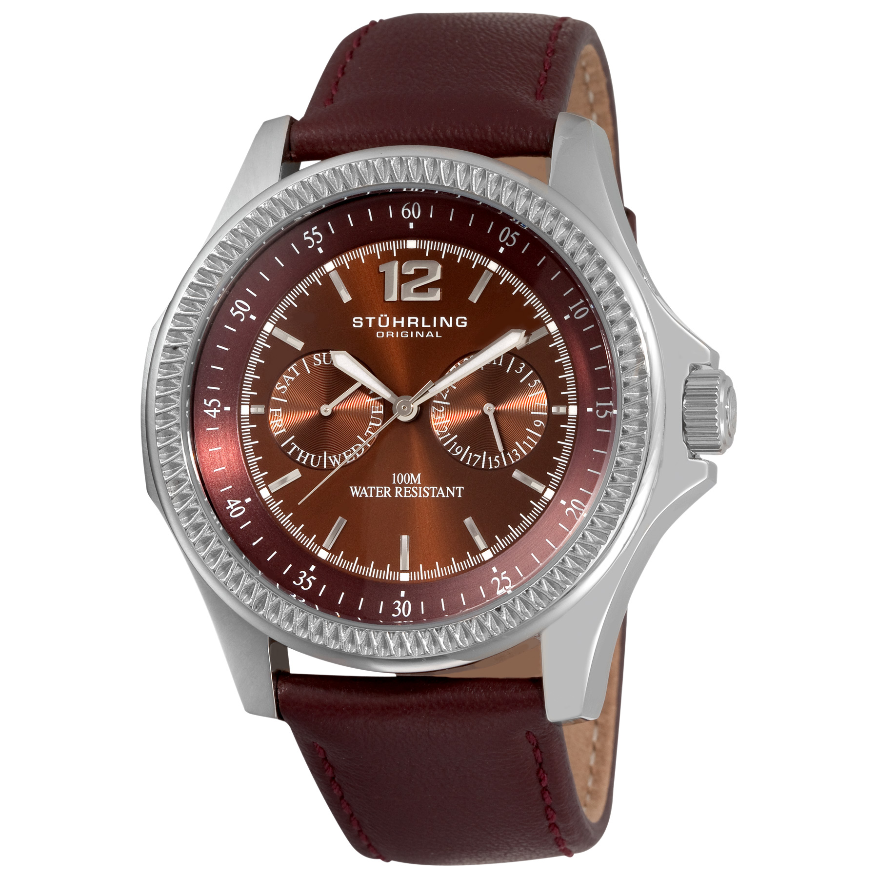 Stuhrling Original Men's 176C.3315Q59 Targa Classic Swiss Quartz Brown Watch