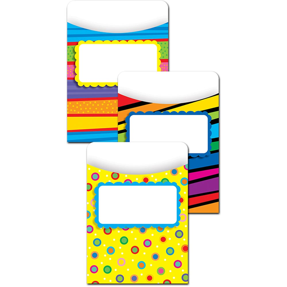 CTP6776 - Poppin' Patterns Library Pockets - Jumbo by Creative Teaching Press