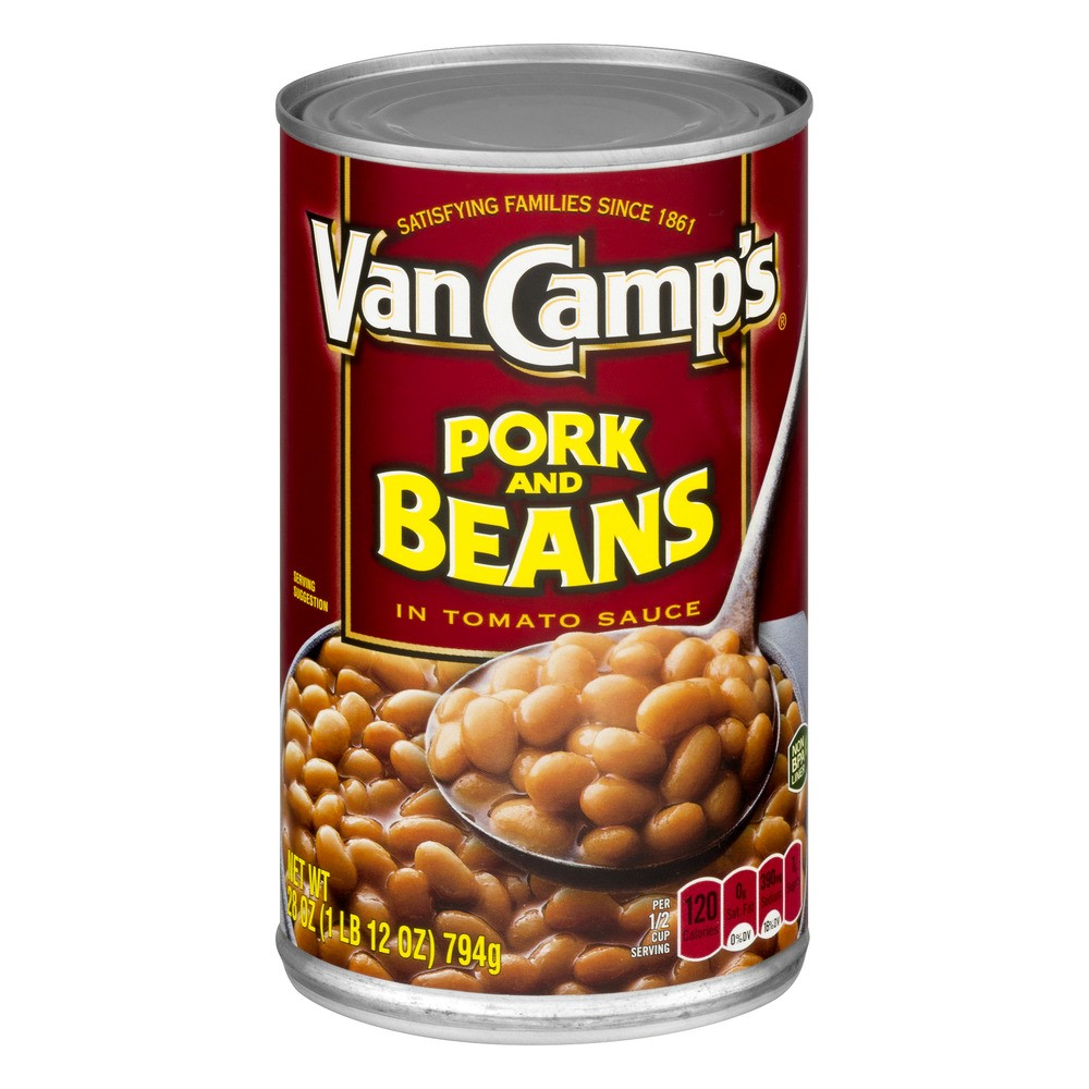 (6 Pack) Van Camp's Pork and Beans in Tomato Sauce, 28 Ounce