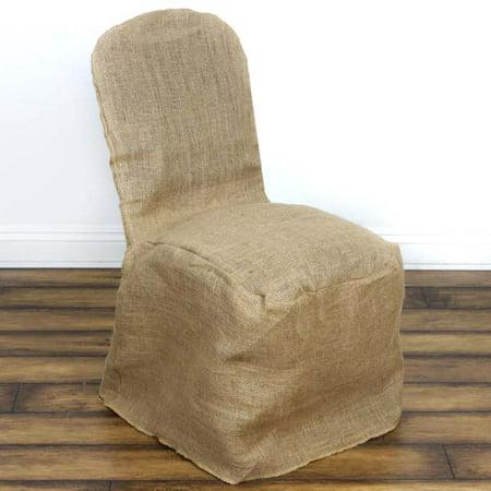 Jute Burlap Wedding Dinning Banquet Chair Cover, Natural