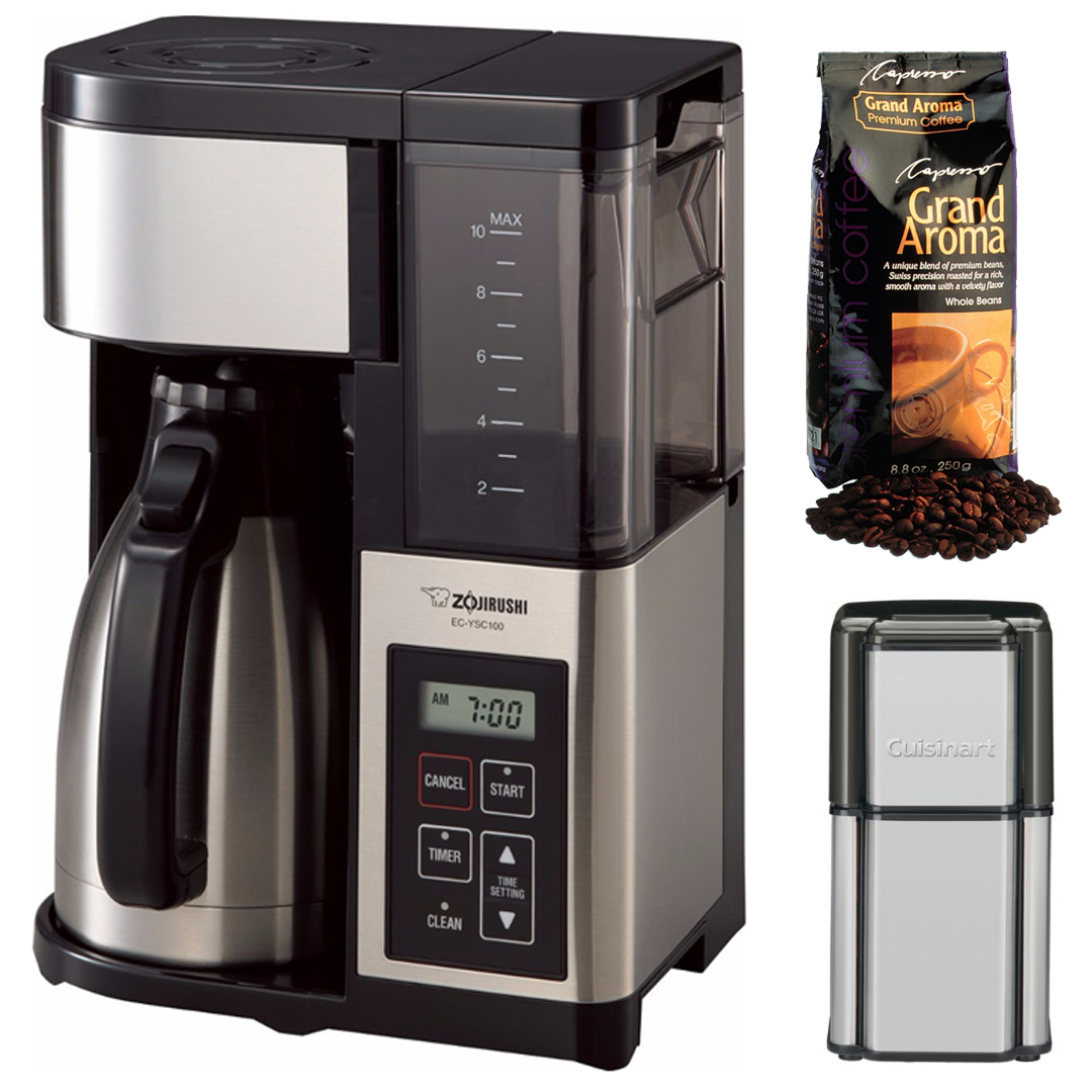 Zojirushi EC-YSC100-XB Fresh Brew Plus Thermal Carafe Cof...