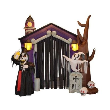 The Holiday Aisle Halloween Inflatable Haunted House Decoration](Homemade Halloween Decorations Office)