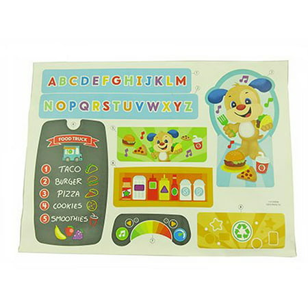 Fisher-Price Laugh & Learn Servin' Up Fun Food Truck - Replacement Label (Fisher Price Fun 2 Learn Learning Dj)