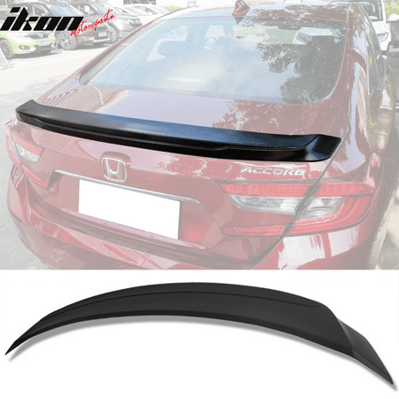 Flush Mount Rear Spoiler (Fits 18-19 Honda Accord OE Flush Mount Style Unpainted ABS Rear Trunk Lip Spoiler Wing )