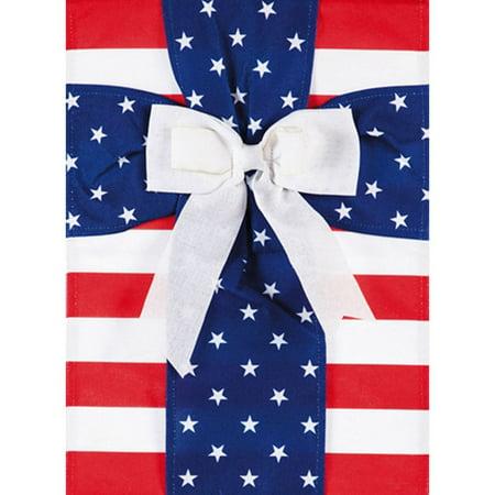 Evergreen Burlap Garden Flag - Patriotic Cross](Cross Flags)