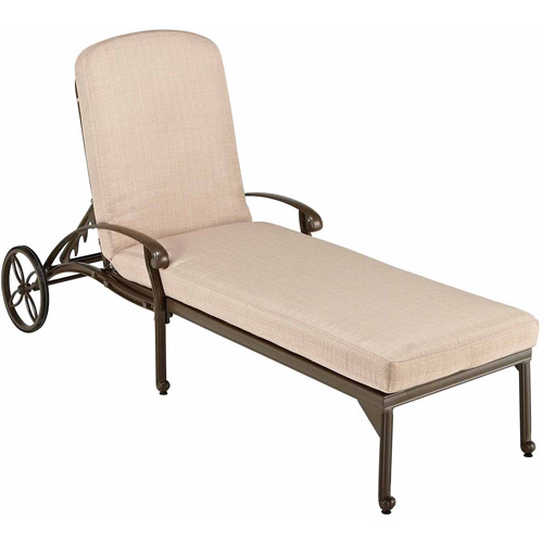 Home Styles Floral Blossom Taupe Chaise Lounge Chair
