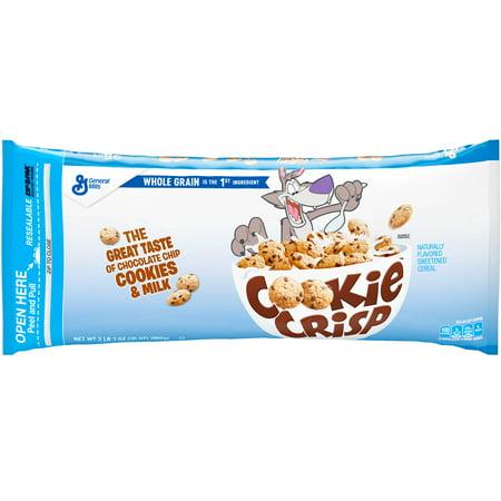 Cookie Crisp Breakfast Cereal, Resealable Bag 35 oz