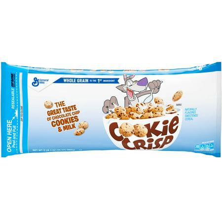(2 Pack) Cookie Crisp Cereal, Chocolate Chip, 35 oz Bag