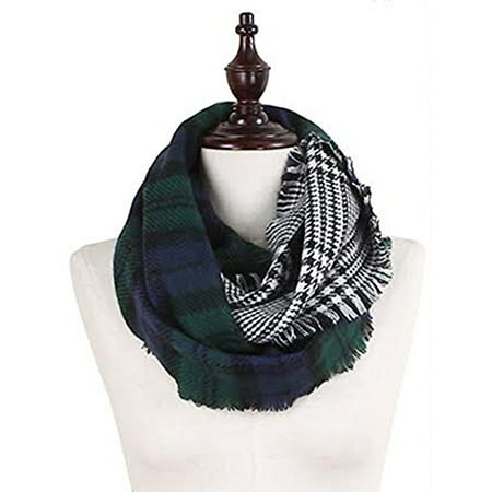 Scarab Collection (StylesILove Plaid Lovers Collection Womens Infinity Scarf (Classic Plaid Green) )
