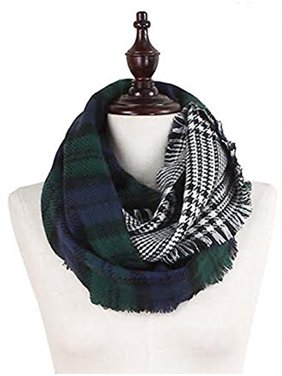 StylesILove Plaid Lovers Collection Womens Infinity Scarf (Classic Plaid Green)