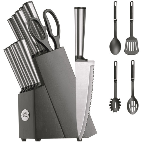 Ginsu Koden Series 18-Piece Stainless Cutlery Set