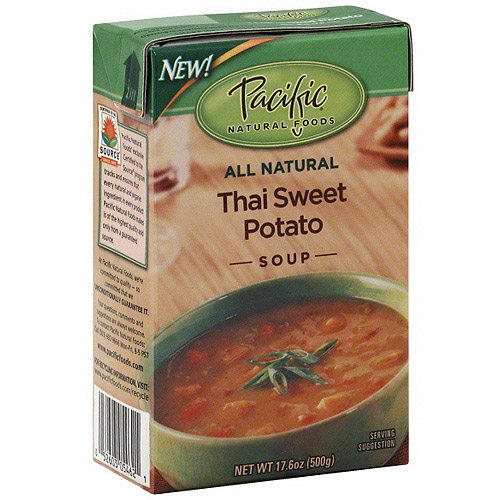 Pacific Natural Foods Thai Sweet Potato Soup, 17.6 oz (Pack of 12)