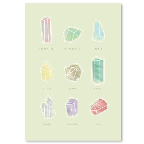 East Urban Home Crystals Graphic Art in Mint