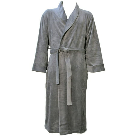 Simplicity Unisex Plush Spa Hotel Kimono Bath Robe Bathrobe Sleepwear - Brown Hooded Robe