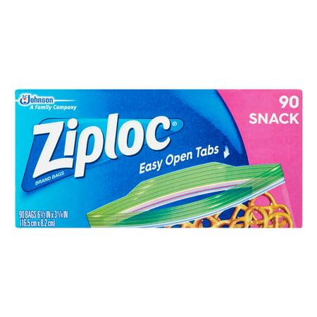 Yard Art Storage Bag - Ziploc Zipper Snack Bags, 90 Ct