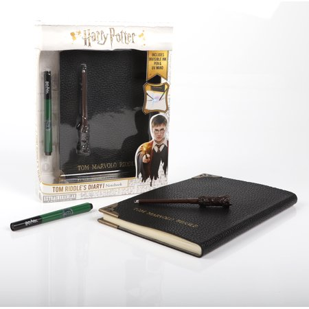 Harry Potter Wizards Wand (Tom Riddle's Diary Notebook, with Pen & Torch Light Wand (Harry Potter- Wizarding)