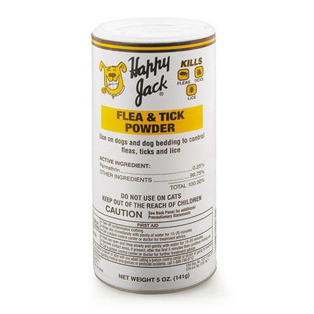 Happy Jack Flea & Tick Lice Powder 5 oz Dog Canine