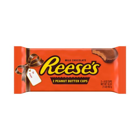 Reeses 2 Pound Milk Chocolate Peanut Butter Cups Candy, Chocolate Gift Pack, 1lb