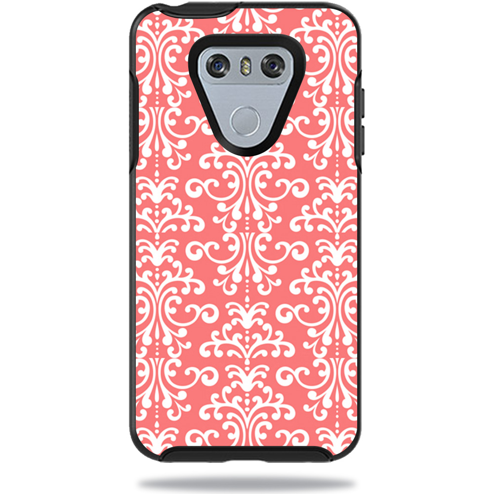 MightySkins Protective Vinyl Skin Decal for OtterBox SymmetryLG G6 Case sticker wrap cover sticker skins Coral Damask